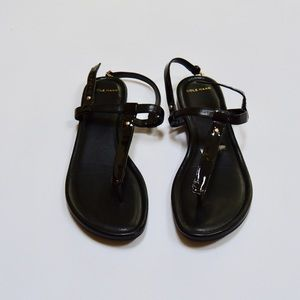 Cole Haan Shoes - Cole Haan Black Patent Leather Sandals 7.5 M